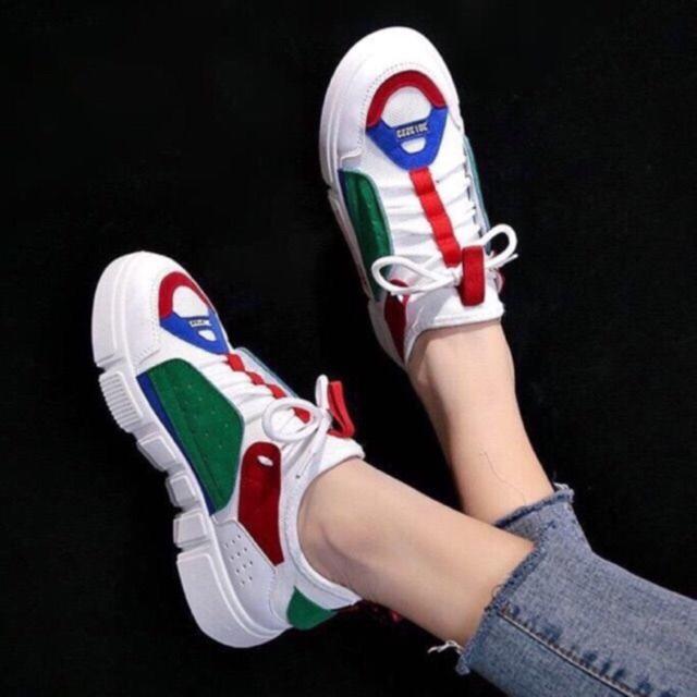 [ FREESHIP TOÀN QUỐC ] Giày nữ thể thao Sneaker Ulzzang | Giày thể thao nữ cá tính 2 màu xanh/trắng
