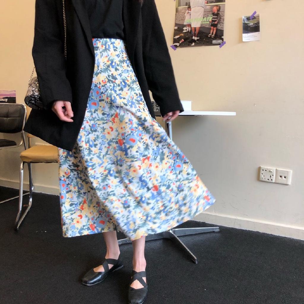 Chân váy chữ a dáng dài màu sắc thời trang cho nữ