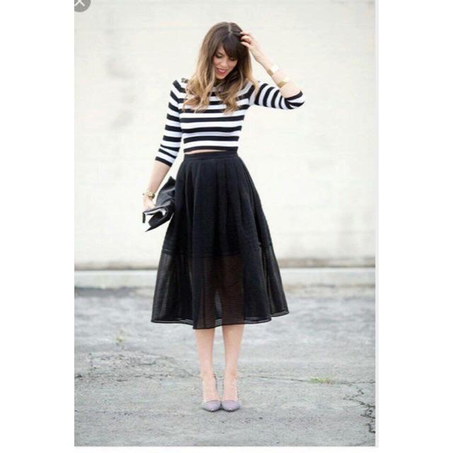 Chân váy ren midi Zara xuất xịn
