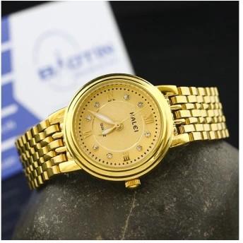 Đồng hồ nam nữ Halei màu vàng quá chất