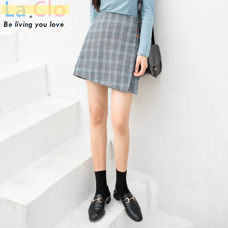 chân váy chữ a họa tiết ca rô phong cách trẻ trung thanh lịch dành cho nữ