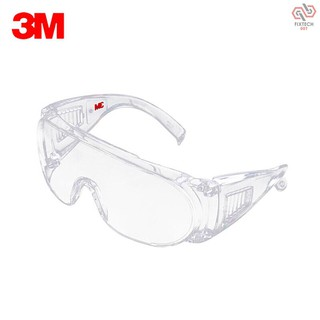 F&T 3M 1611HC Safety Glasses Professional Goggles Eyewear UV Protection Anti Dust Windproof Anti Fog Coating Eye Wear with Clear Lens for Eye Protection