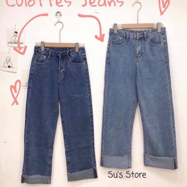 Quần jean cullotes