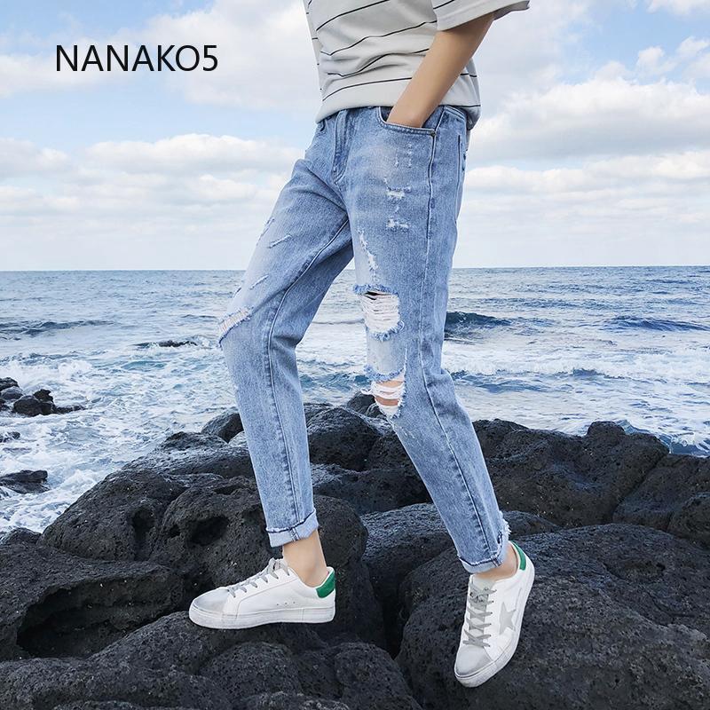 Quần jeans đen dáng ôm phong cách Âu Mỹ thời trang cho nam