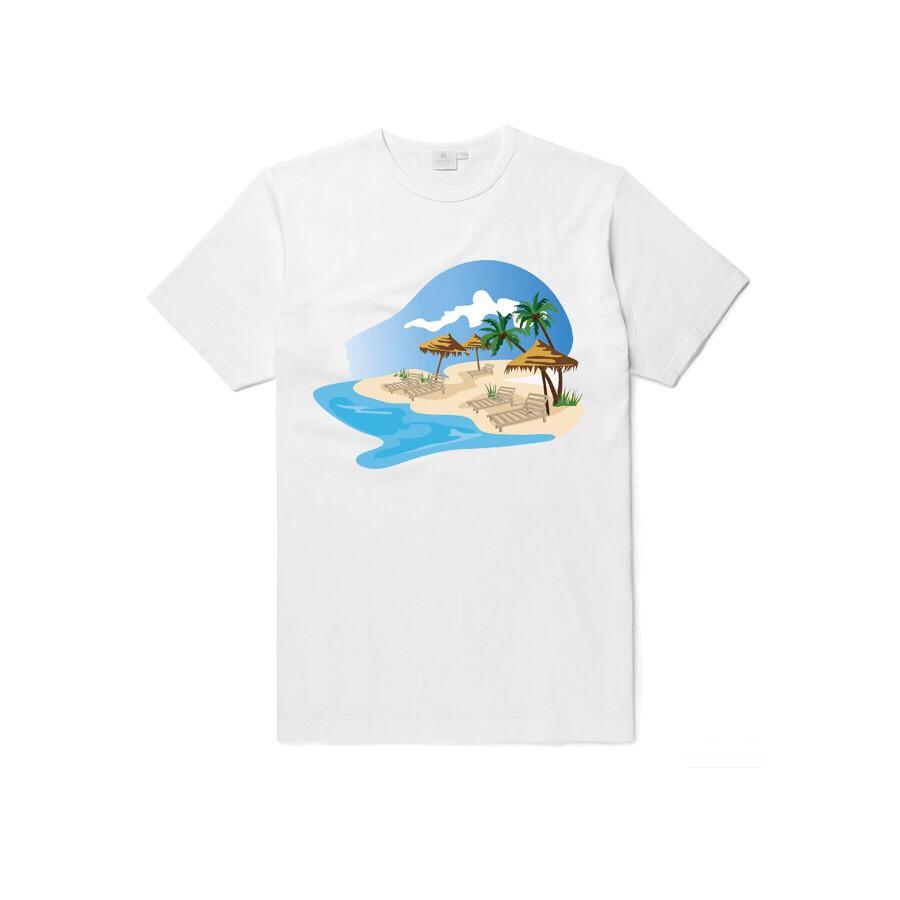 áo thun nam đi biển mùa hè