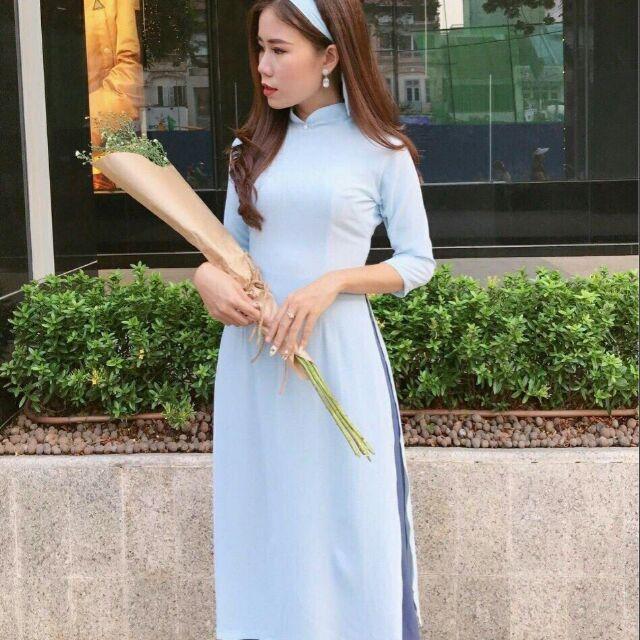 Áo dài cách tân nữ cổ lọ