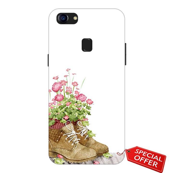 Ốp lưng Oppo F5- nhựa dẻo Silicone in hình Đôi giày hoa (Lovely Couples Art)