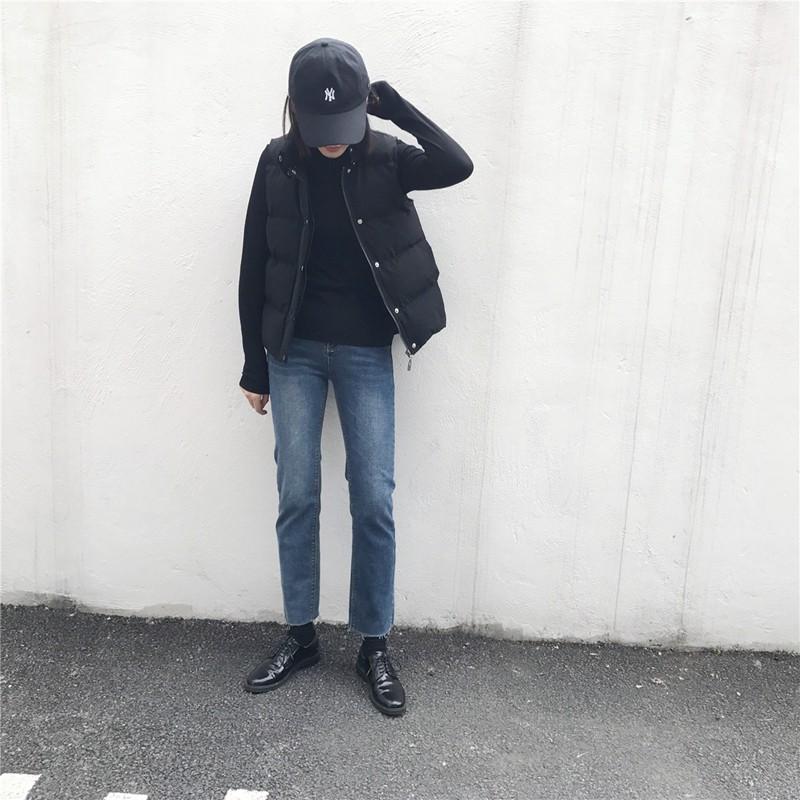 Quần Jeans Dài Lưng Cao Co Giãn Thời Trang Cho Nữ
