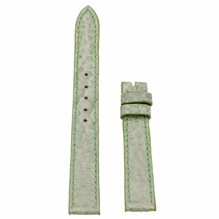 Dây đồng hồ Huy Hoàng da đà điểu màu xanh lá-HP8421
