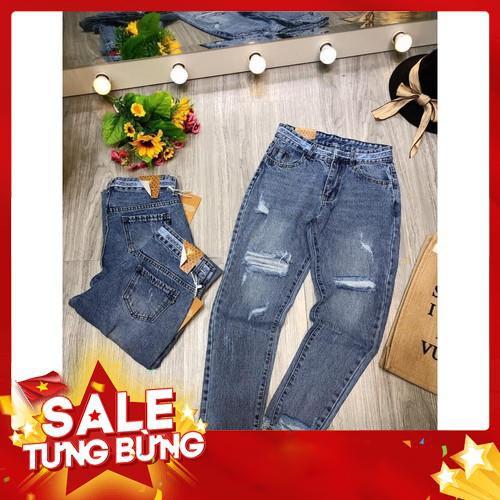 Quần jeans mã 468 rách cạp viền chữ (kèm video,ảnh thật) -Hàng nhập khẩu