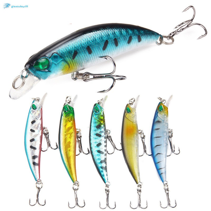 Hình ảnh Bionic Lure Fishing Baits Fish Shaped Life-like Bionic Bait 3D Eyes Double Hooks Baits