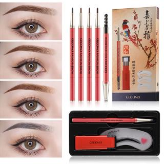 1PC Professional Eye Brow Makeup with Refill Easy to Wear Pigment Brown Gray Waterproof Eyebrow Kit