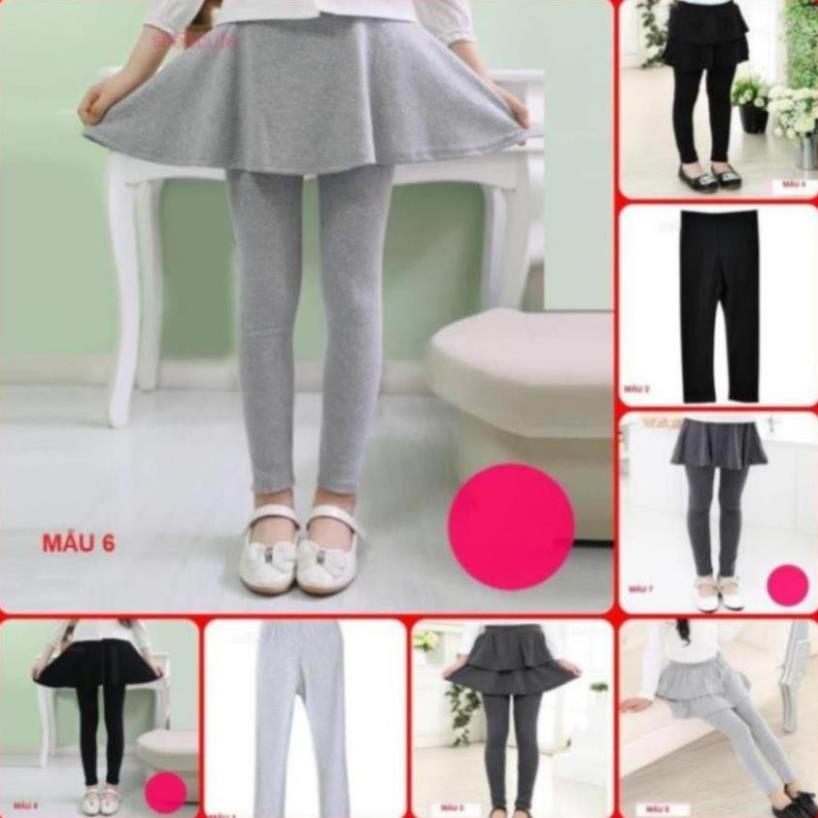 [SALE] QL0⚡Size 90-160⚡Quần legging cho bé gái, dạng chân váy, 100% cotton⚡HÀNG QUẢNG CHÂU CAO CẤP - QUẦN ÁO TRẺ EM⚡
