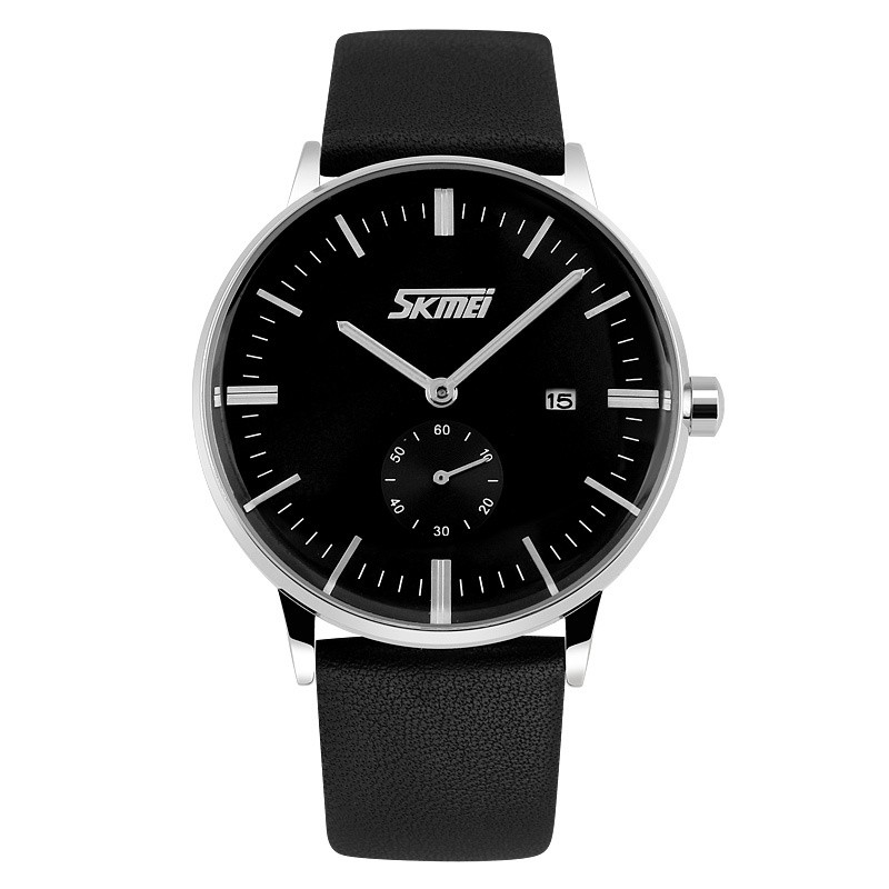 [Mã WTCHJAN giảm 20K ] Đồng hồ nam dây da cao cấp SKMEI mã SKM12