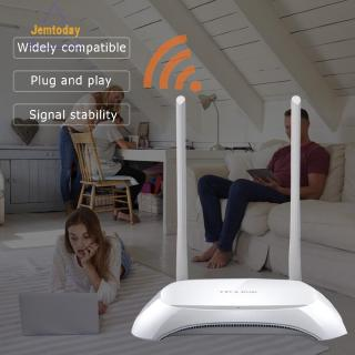 Ready Stock TP-LINK TL-WR840N 2.4G 300M Wifi Router 2 Antenna Wireless Network Repeater