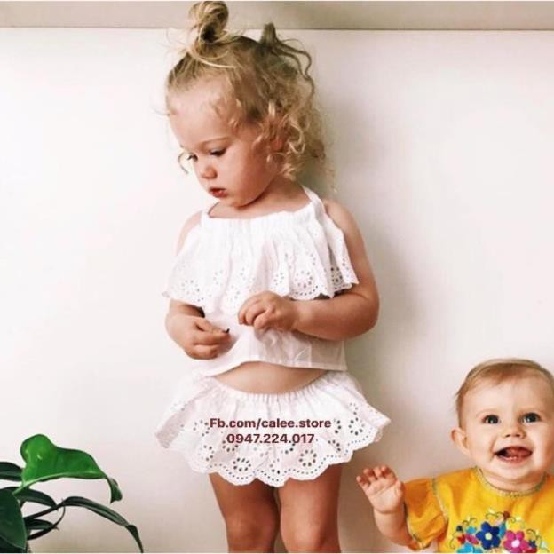 thanh ly Set yếm chân Váy cho bé calee.store