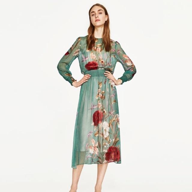 Váy maxi zara dư xịn hàng check code