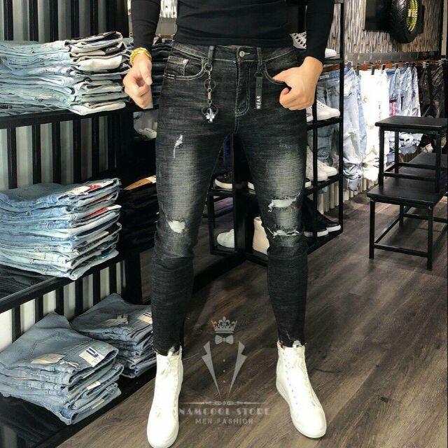 Quần bò nam quần jean nam rách đẹp