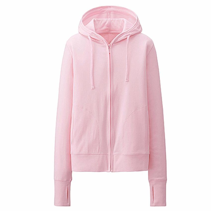 Áo khoác nhẹ thời trang chất da cá ( hồng nhạt)