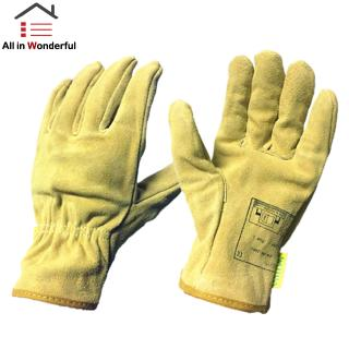 Adult Electric Welding Gloves Wear Resistance Non-slip Working Driving Leather Gloves Unisex