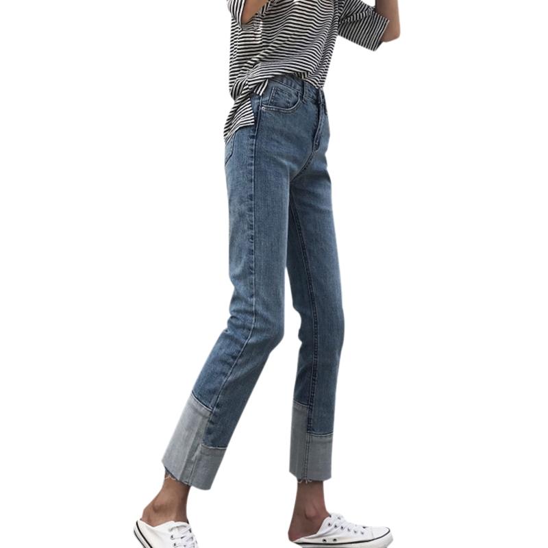 Quần Jean Nữ Lưng Cao Thời Trang Hàn Quốc 2018