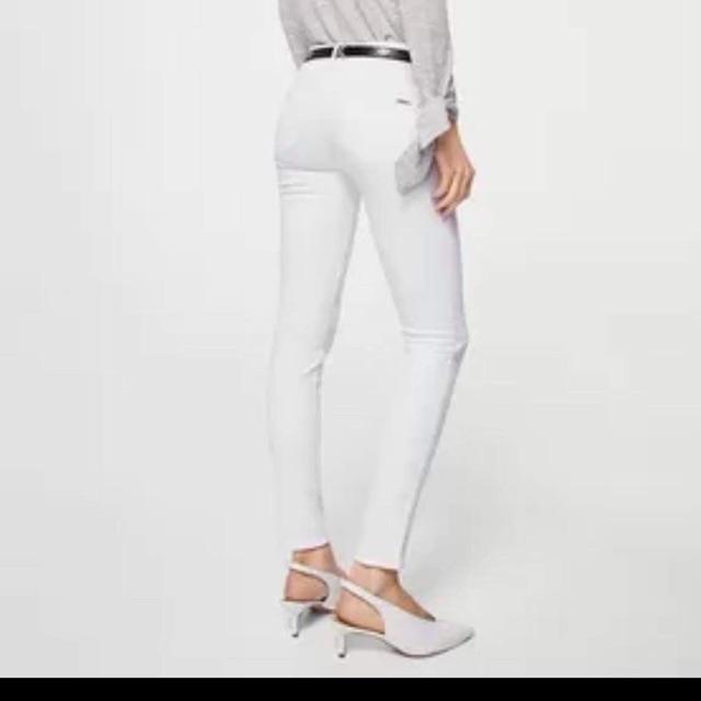 (Auth) Quần jeans Mango trắng size 36