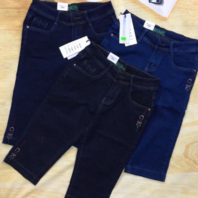 Quần jean quần bò lửng nữ (có bigsize) _mangobun