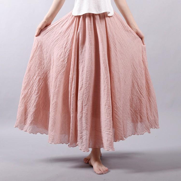 Chân váy cotton co giãn kiểu dáng nhã nhặn cho nữ