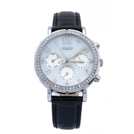 Đồng hồ nữ dây da Julius JA828A - JU1162 (Đen mặt trắng) chính hãng Hàn Quốc