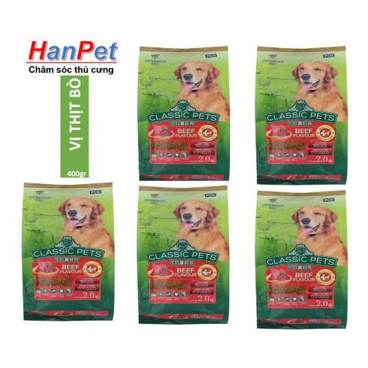 COMBO 5 gói x 400gr Thức ăn chó trưởng thành CLASSIC PETS (Ladiep 207)