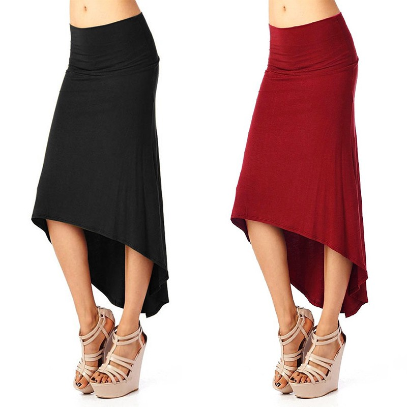 Chân váy đuôi cá vải chấm bi quyến rũ cho nữ