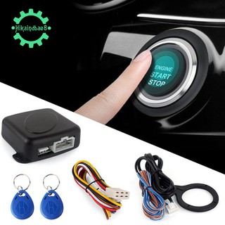 Car Alarm System Push Engine Start Stop Button Lock Ignition 12V