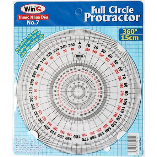Thước vẽ kỹ thuật, Thước đo độ, Full Circle Protractor Ruler No7