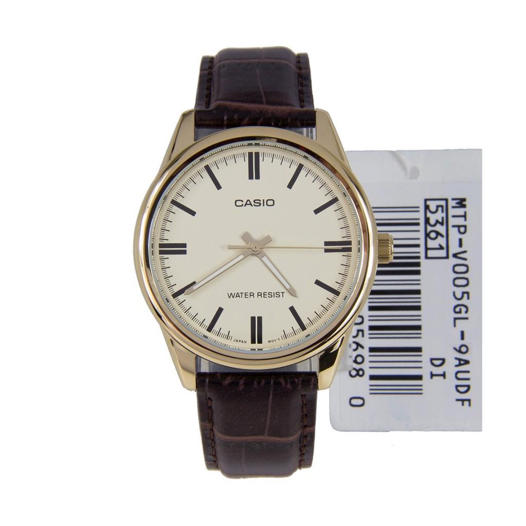Đồng hồ nam CASIO chính hãng MTP-V005GL,dây da