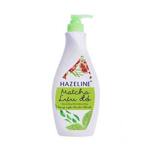 Sữa dưỡng thể dưỡng trắng Hazeline Matcha Lựu Đỏ 370ml- Chính Hãng