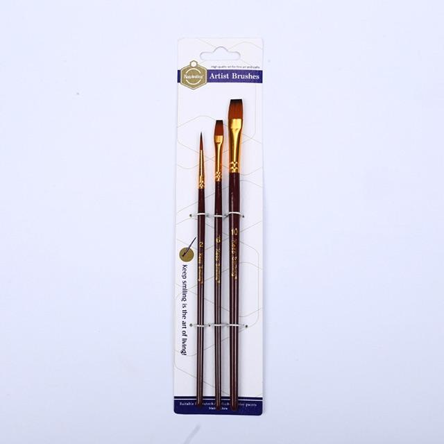 Bộ 3 bút lông cọ vẽ keep smilling loại đẹp