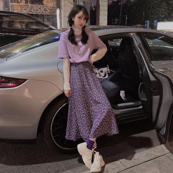 Set Áo Sơ Mi Tay Ngắn Phối Lưới + Chân Váy Thời Trang Cho Nữ
