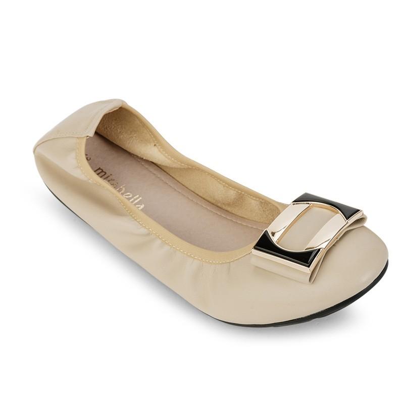 Giày Búp Bê Thun Co Giãn 856 màu kem