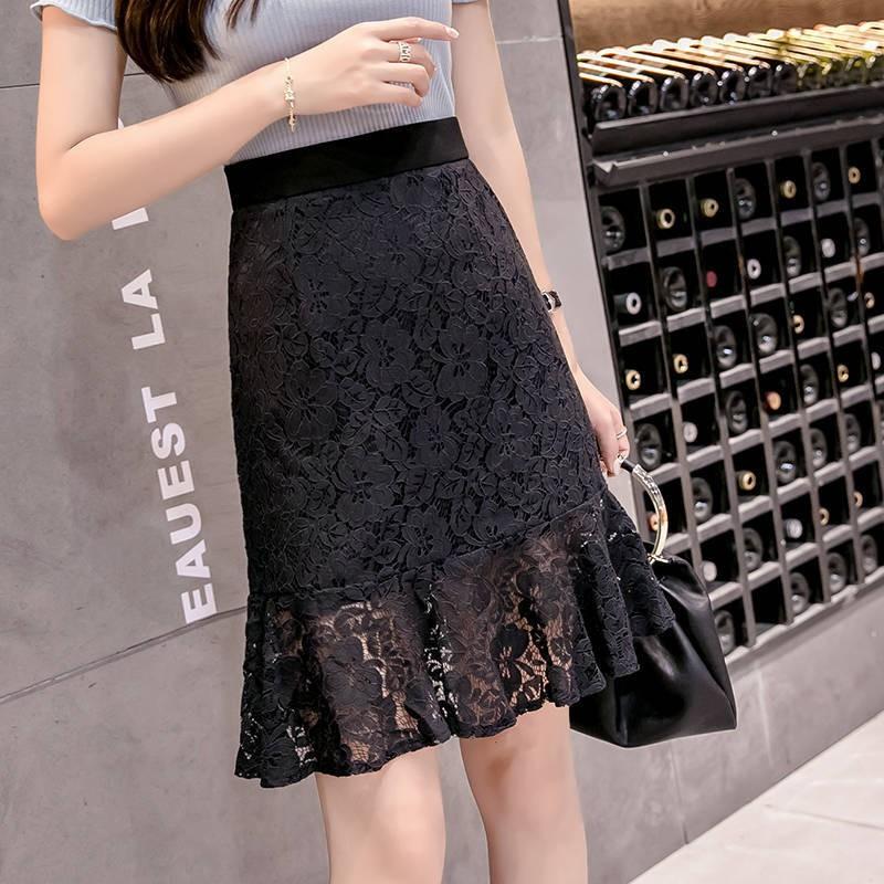 Chân Váy Ren Lưng Cao Thời Trang Mùa Hè Hàn Quốc Cho Nữ