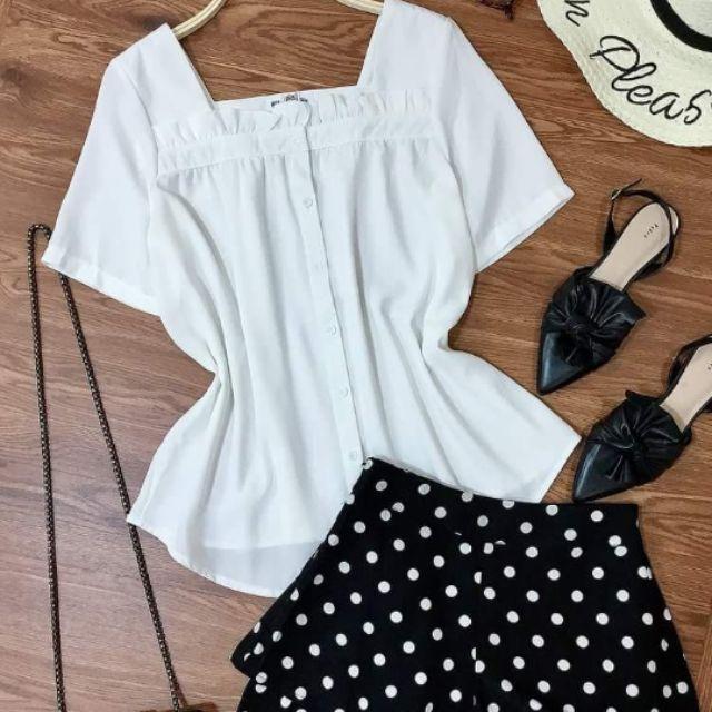 Set áo quần chấm bi dễ thương