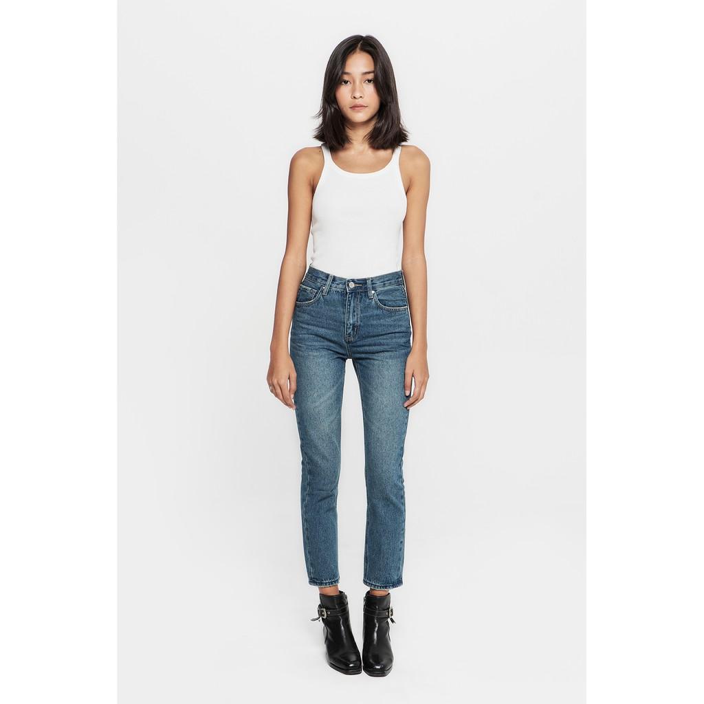 TheBlueTshirt - Monder Crop Dark Wash - Quần Jeans Ống Vừa Xanh Đậm