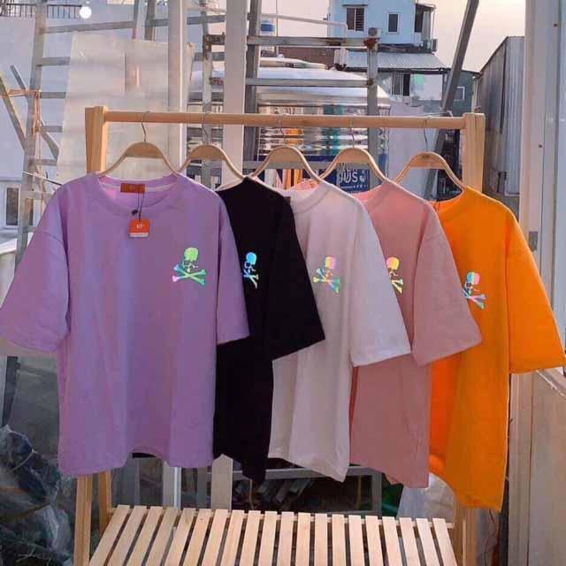 [ĐỒNG GIÁ 53K]Áo phông UNISEX cộc tay áo thun chất cottion 100% in hình phản quang