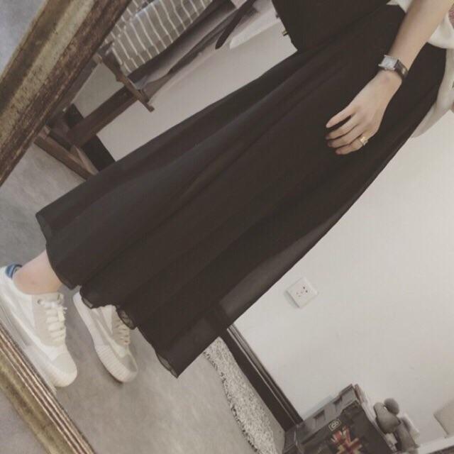 Chân váy voan dài