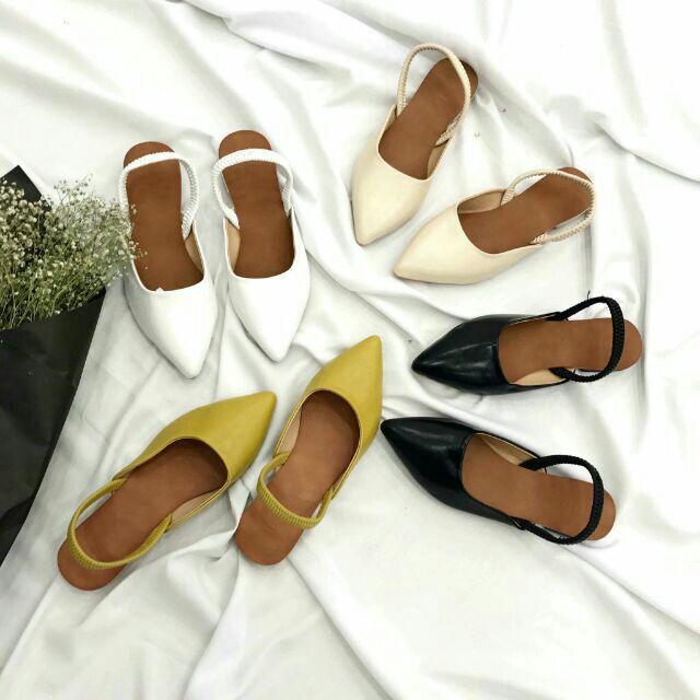 Giày búp bê khóa chun