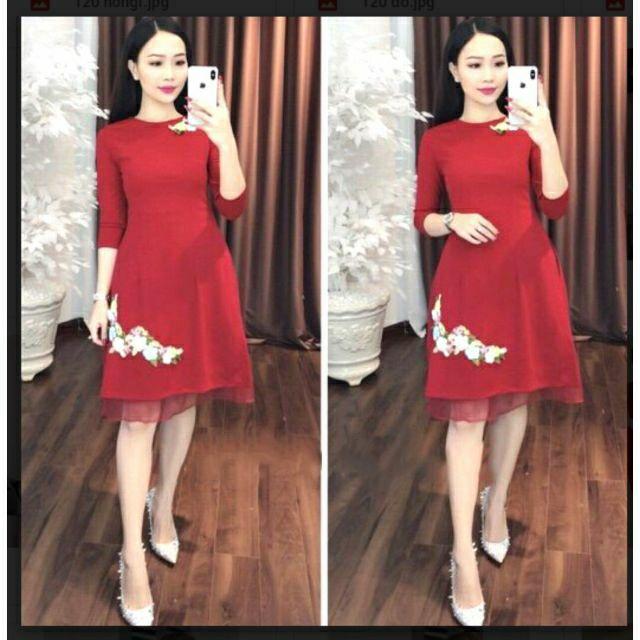 Bộ áo dài cách tân kèm váy ( hàng y hình (