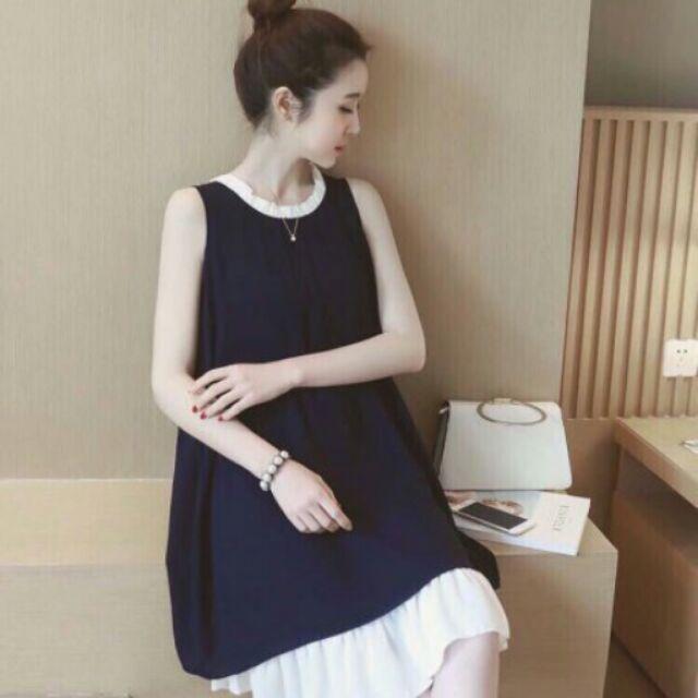 [Free ship 99k giao tại HN + HCM]Đầm bầu váy bầu đầm suông váy suông thời trang Hàn Quốc