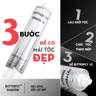 Gôm xịt tóc Butterfly Shadow 150ml - 600ml