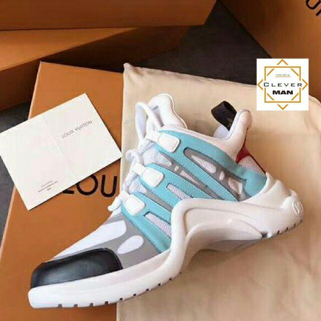 (Video cận cảnh) giày thể thao Archlight Trắng xanh