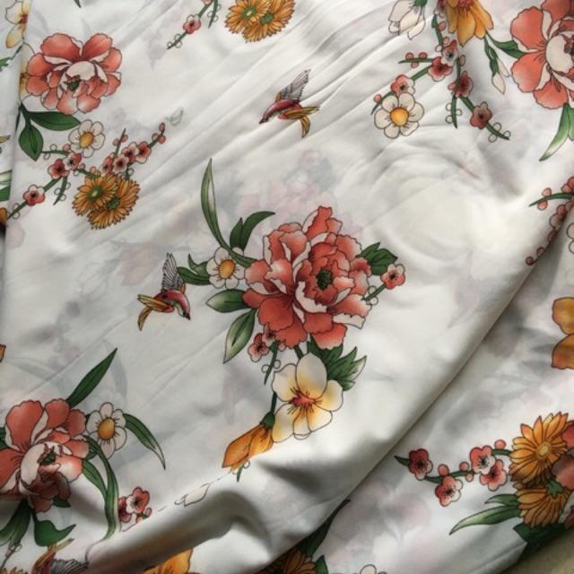 Vải lụa giấy may áo , váy , bộ đồ