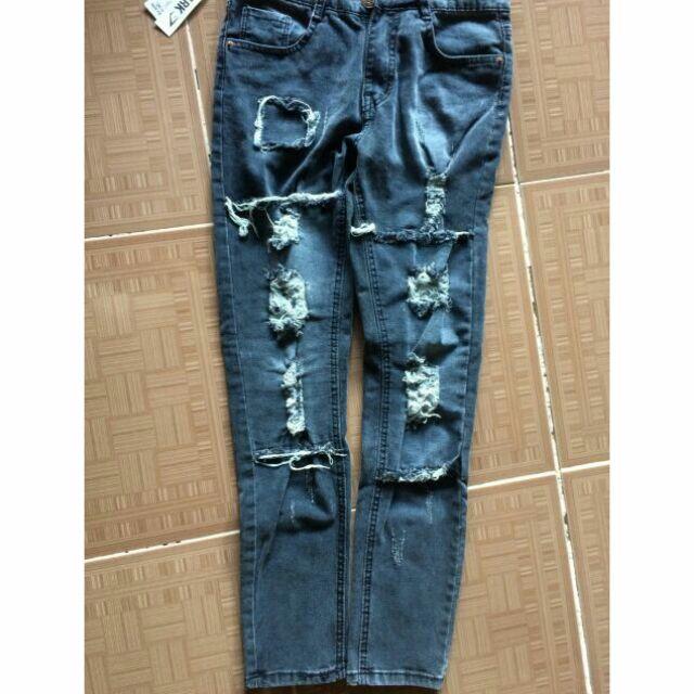 Quần jean size 28 ( màu xám)